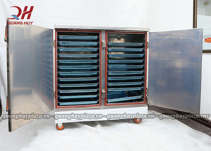 Hình ảnh tổng quan về tủ cơm công nghiệp 24 khay