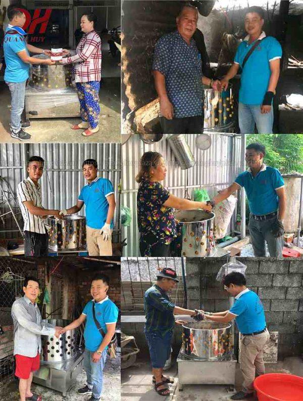 Khách hàng mua máy vặt lông gà tại Quang huy