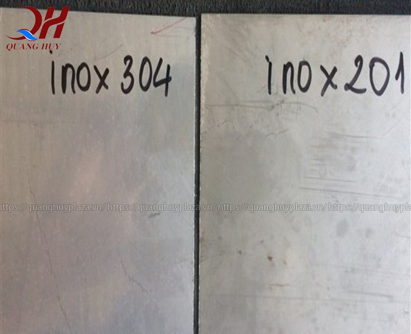 So sánh giữa hai loại inox
