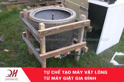 Tự chế tạo máy vặt lông gà từ máy giặt gia đình