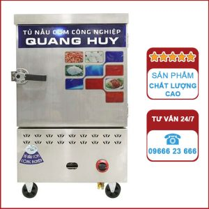 Tủ nấu cơm công nghiệp 6 khay dùng Gas và điện