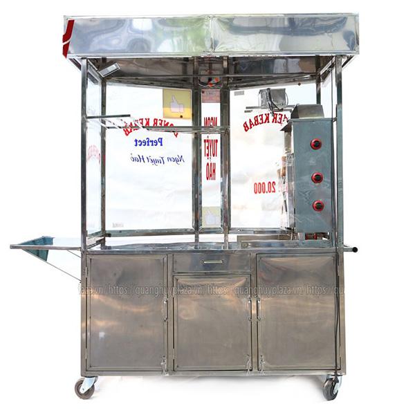 Xe bánh mì Doner Kebab được làm từ Inox 304 chất lượng cao