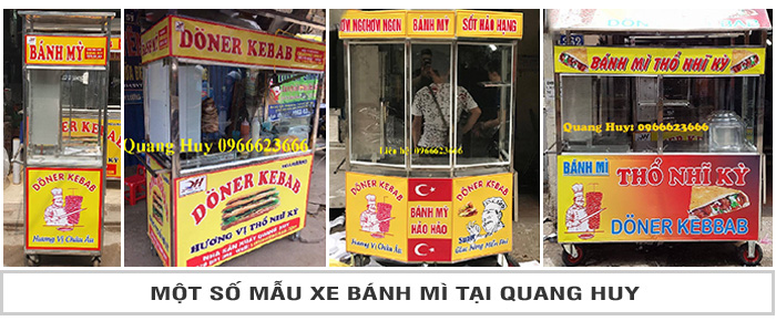 Một só mẫu xe bánh mì tại Quang Huy