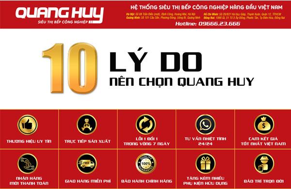 10 lý do nên mua thiết bị nhà bếp Quang Huy