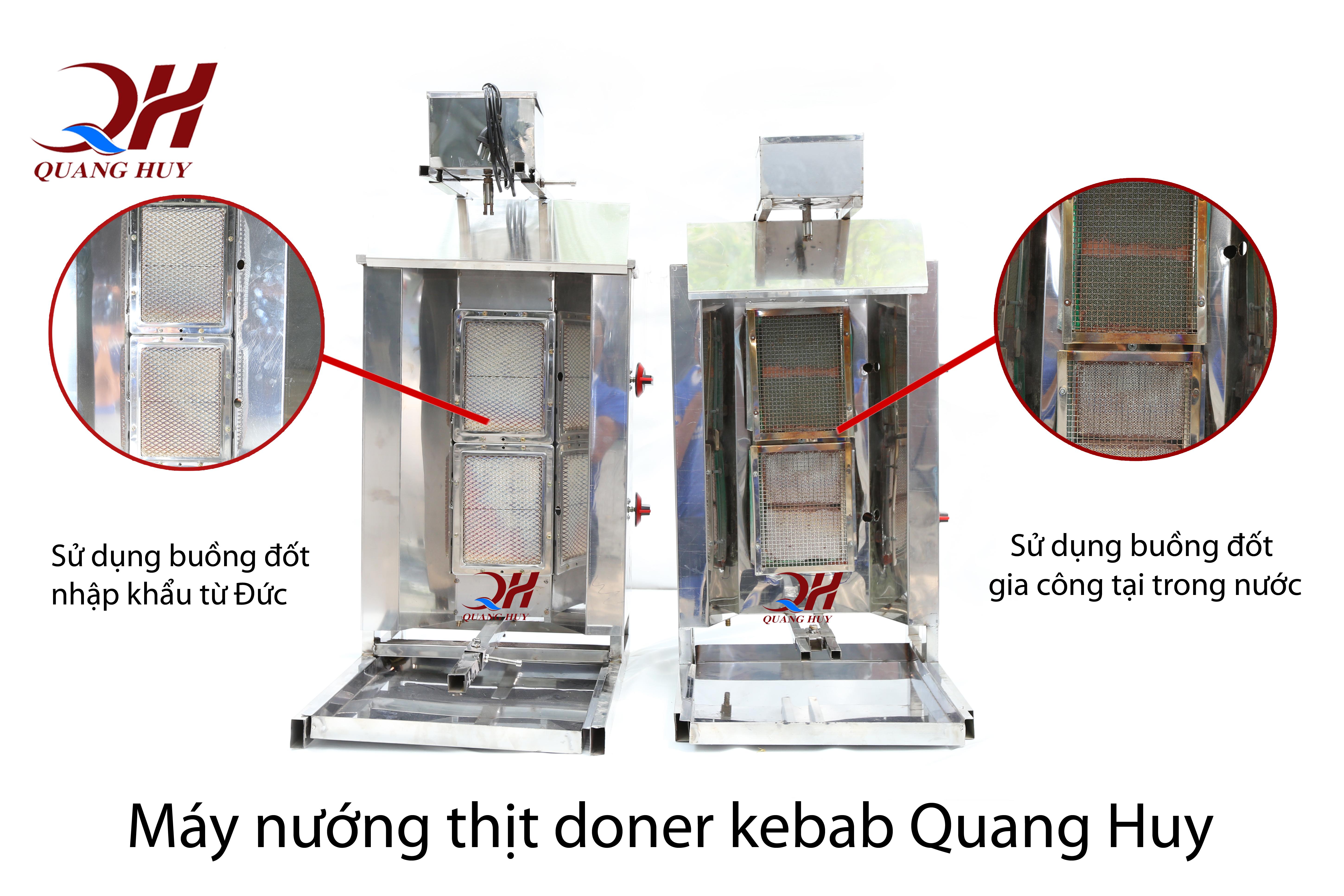 Lò nướng thịt doner kebab Quang Huy sử dụng loại gốm tốt hơn những sản phẩm khác