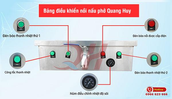 Bảng điều khiển nồi nấu phở điện Quang Huy
