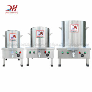 Bộ nồi phở điện Quang Huy tiêu chuẩn chuyên nghiệp cho quán bún phở, nhà hàng