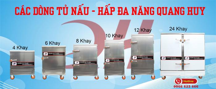 Các dòng tủ hấp nấu đa năng Quang Huy