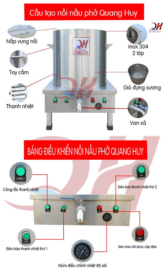 Chi tiết về nồi nấu phở điện