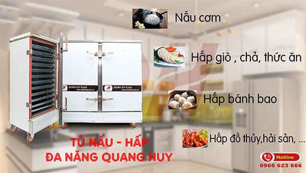 Chức năng tủ hấp nấu đa năng Quang Huy