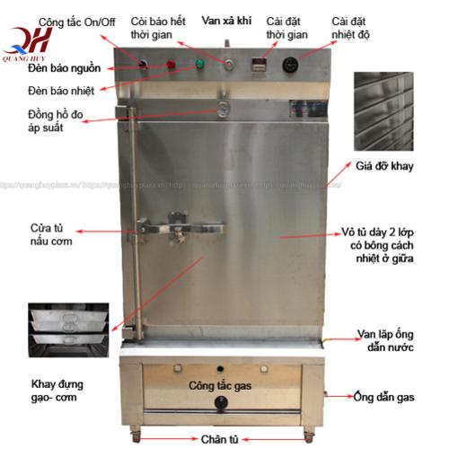 Một số lỗi cần sửa tủ cơm công nghiệp chạy gas