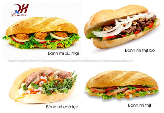 Bạn sẽ có bánh mì kẹp thịt với nhiều kiểu khác nhau