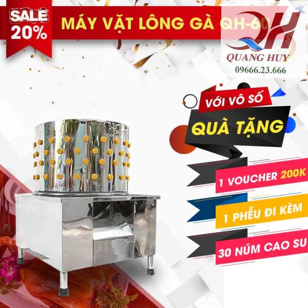 Ưu đãi khi mua máy vặt lông gà của Quang Huy