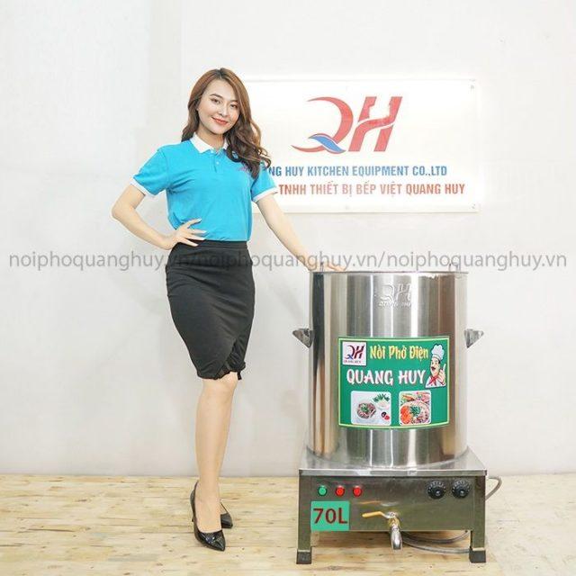 Mẫu nồi phở điện 70l tại Quang Huy