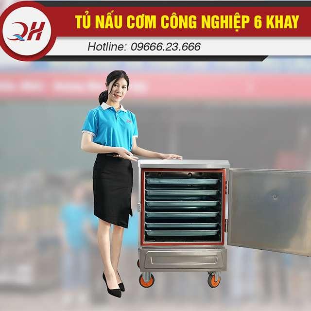 Tủ nấu cơm 6 khay điện phân phối bởi Quang Huy