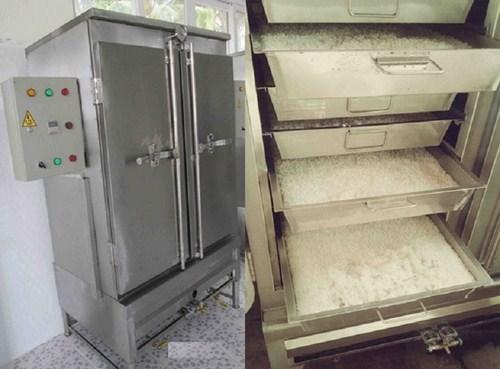 """Công suất nấu cơm """"đáng nể"""" của tủ nấu cơm công nghiệp Quang Huy"""