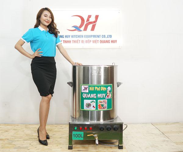 Nồi điện nấu phở 100lit Quang Huy