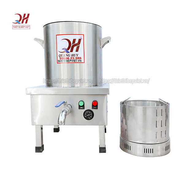 Một trong những mẫu nồi nấu phở bằng điện của Quang Huy với thiết kế thông minh tiện dụng, cấu tạo tiện lợi cho việc chế biến