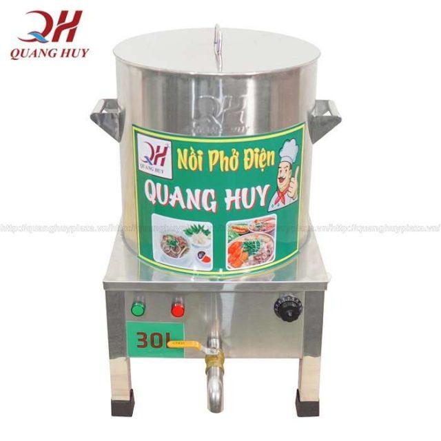 Nồi nấu phở điện 30l inox bền bỉ, cách nhiệt dày dặn 3 lớp