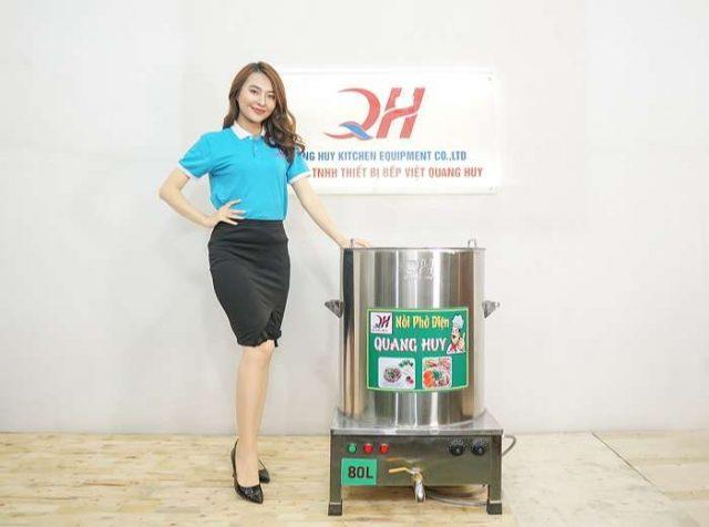 Mẫu nồi nấu phở điện 80l Quang Huy