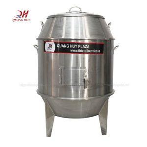 Lu quay vịt inox bằng than 80cm Quang Huy