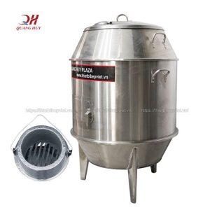 Lò quay gà vịt than hoa 90cm Quang Huy