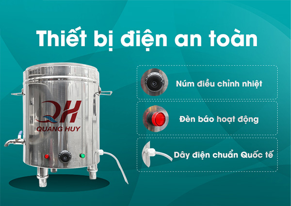 Thiết bị điện an toàn Nồi điện nấu phở