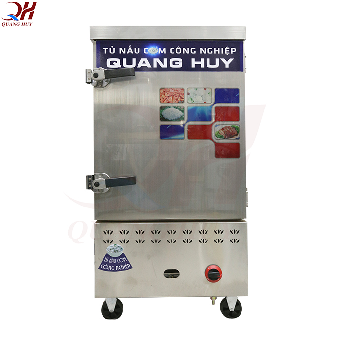 Tủ cơm công nghiệp 8 khay bằng gas tại Quang Huy