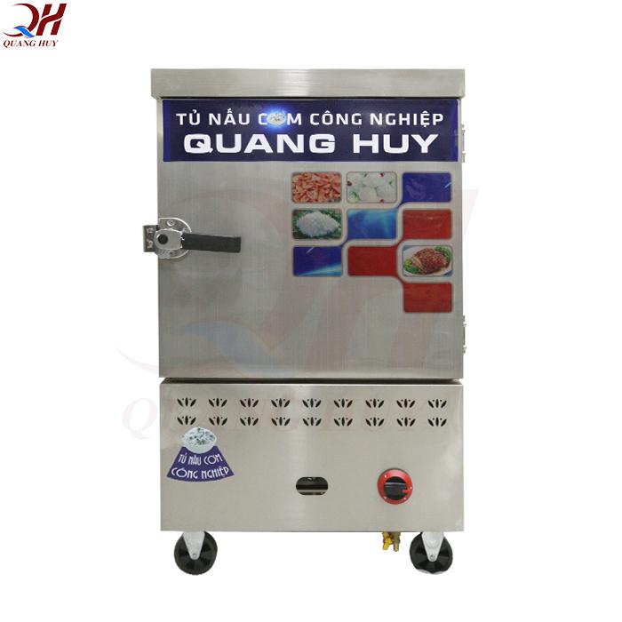 Sản phẩm tủ nấu cơm 6 khay gas của Quang Huy
