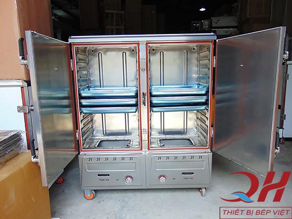 Tủ cơm công nghiệp bằng gas 24 khay của Quang Huy