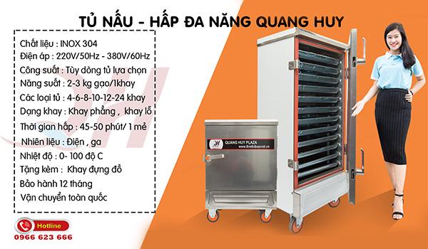 Tủ hấp nấu đa năng Quang Huy
