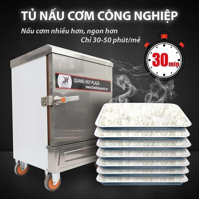 Tủ nấu cơm 6 khay nấu hấp 30kg gạo trong môt lần nấu