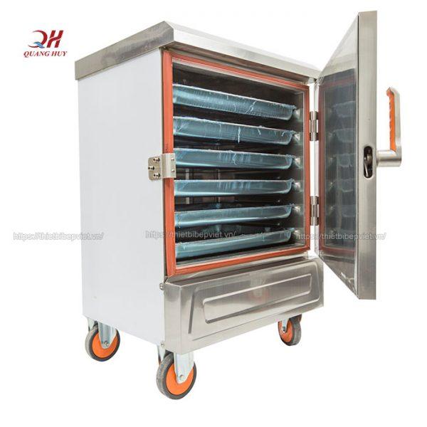 Tủ nấu cơm công nghiệp 6 khay điện Quang Huy
