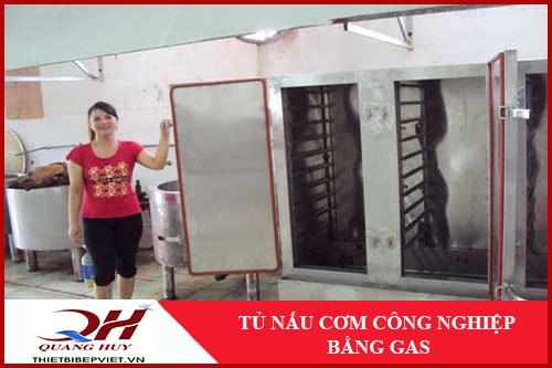 tủ nấu cơm công nghiệp bằng gas 1