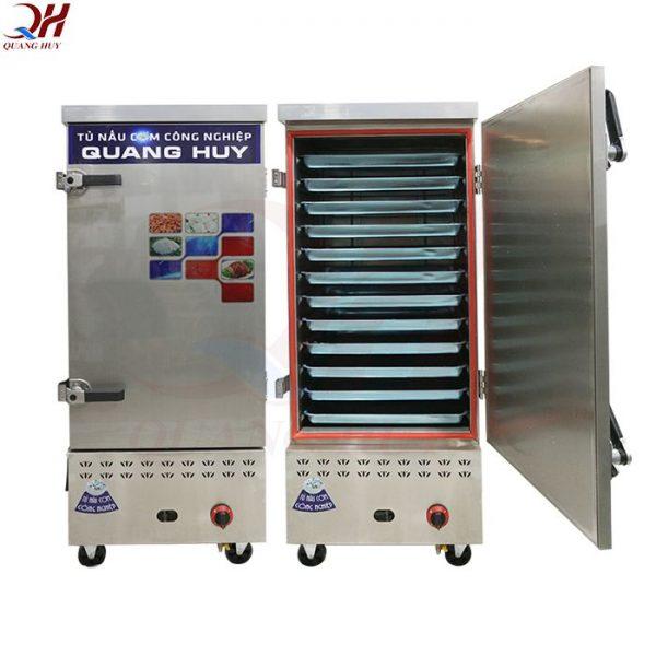 Mẫu tủ nấu cơm công nghiệp 12 khay gas