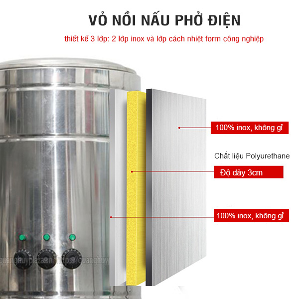 Vỏ nồi nấu phở điện 100l-150l