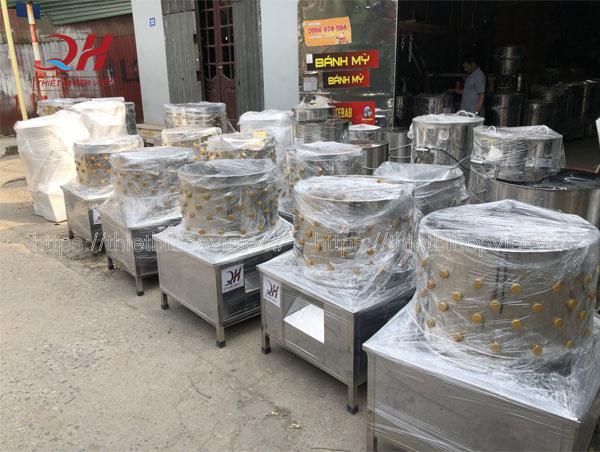 Xưởng máy làm lông gà Quang Huy