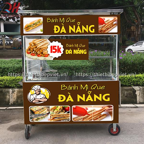 Xe bánh mì que Đà Nẵng 1m3 mẫu mới nhất 2020