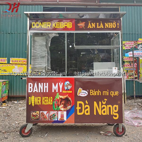 Xe bánh mì que đà nẵng 1m5 sản xuất và phân phối bởi Quang Huy