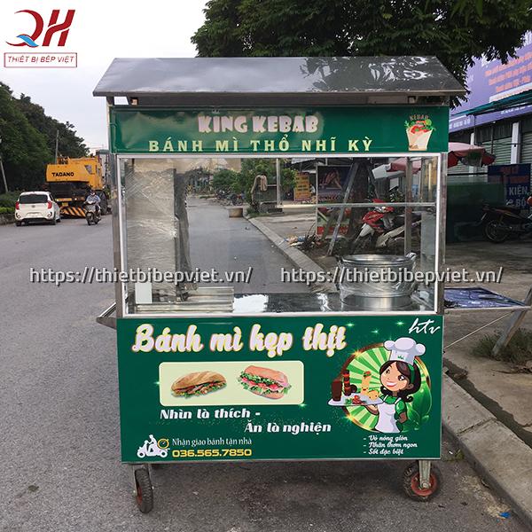 Xe bán xôi bán bánh mì thổ nhĩ kỳ 1m8 do Quang Huy sản xuất và phân phối