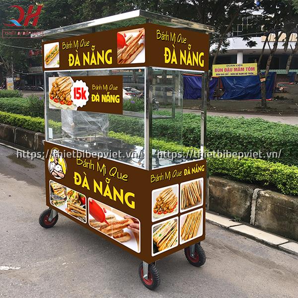 Thiết kế xe bánh mì que Đà Nẵng chắc chắn