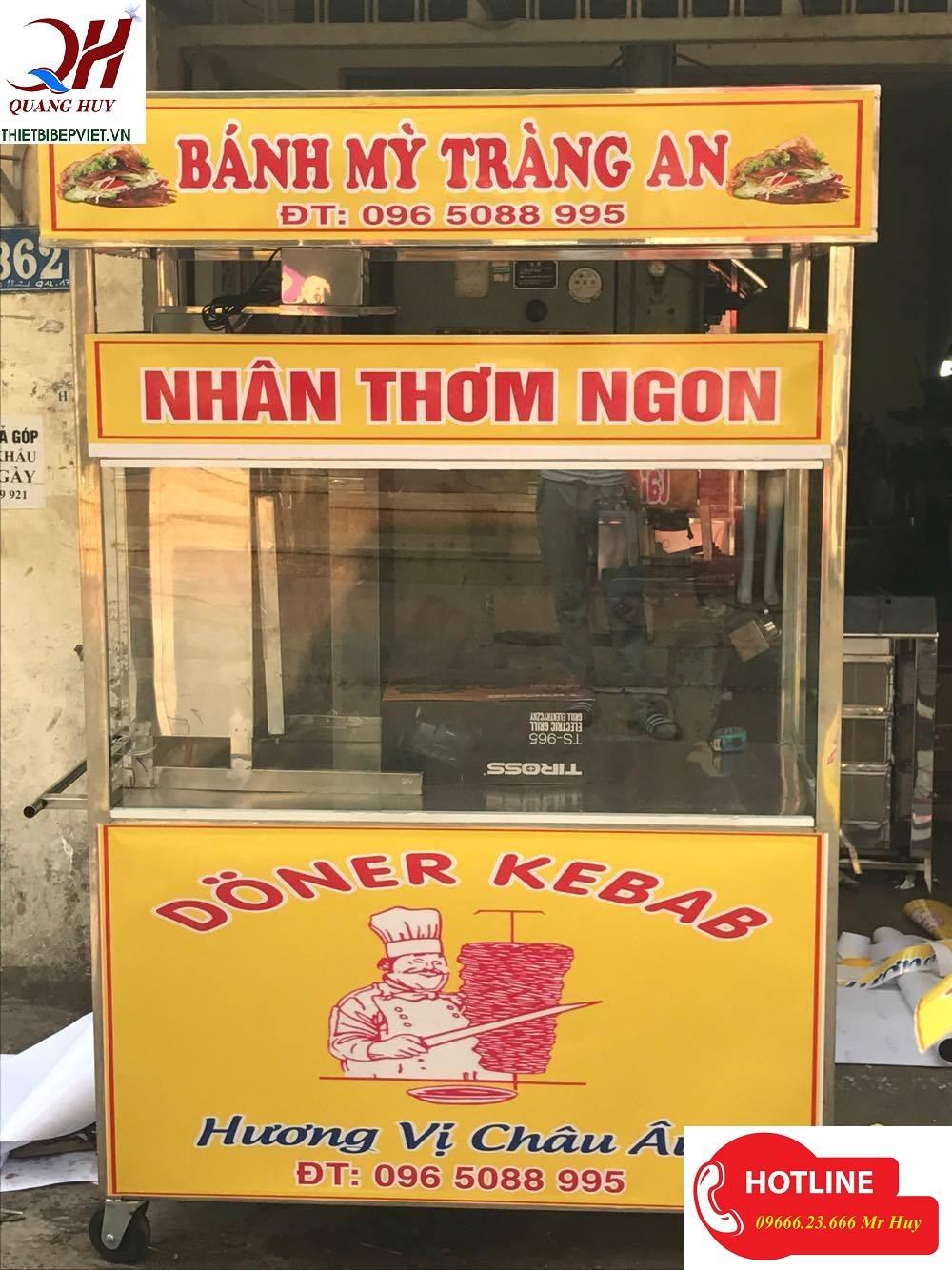 xe bánh mì kebab mẫu mới của quang huy
