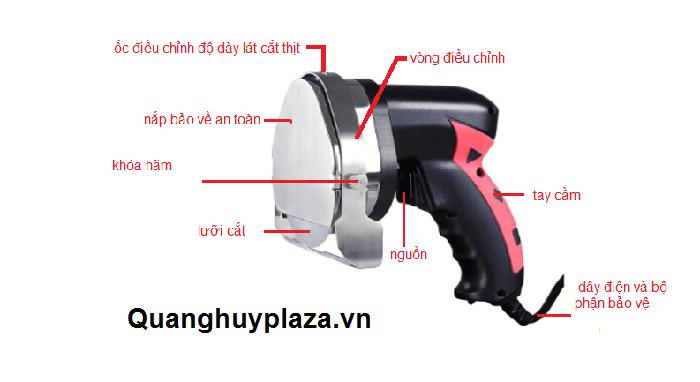 cấu tạo của máy cắt thịt cầm tay