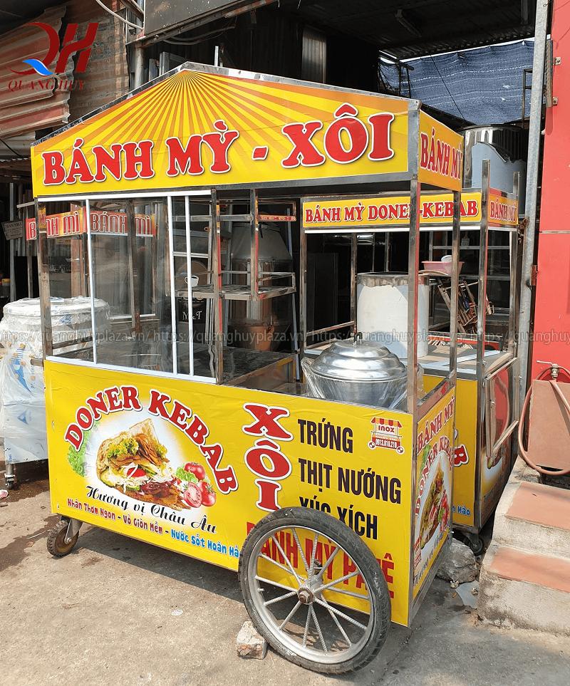 Xe bán xôi bán bánh mì thổ nhĩ kỳ 1m6 Quang Huy