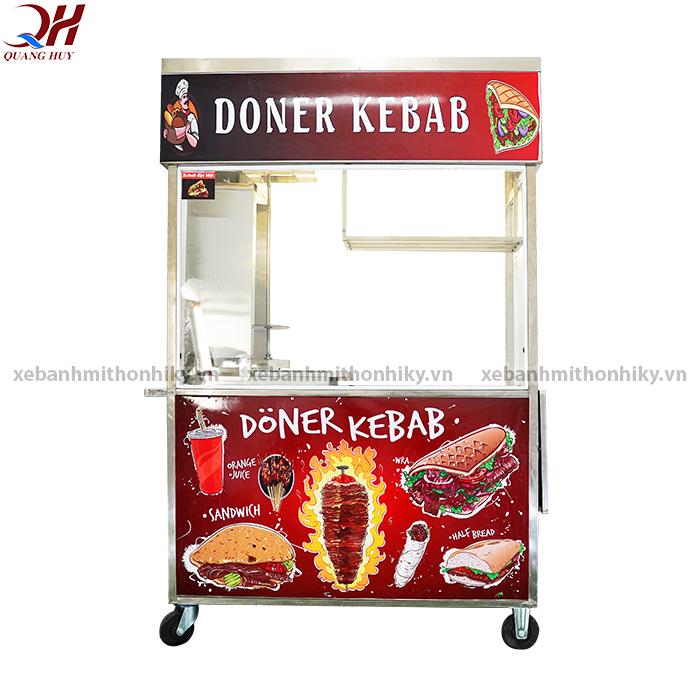 Xe bánh mì doner kebab 1m5 mẫu mới
