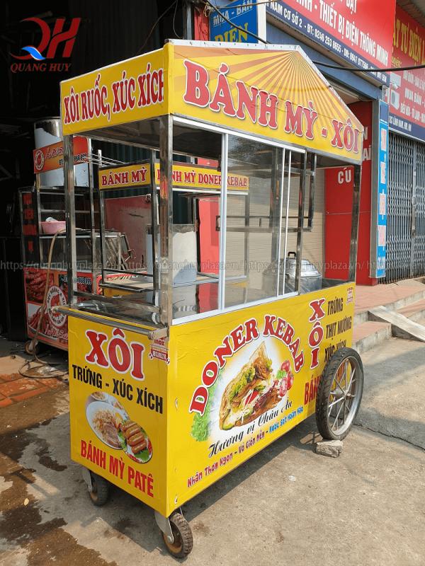 Xe bánh mì Quang Huy được thiết kế tiện lợi nhất cho người tiêu dùng