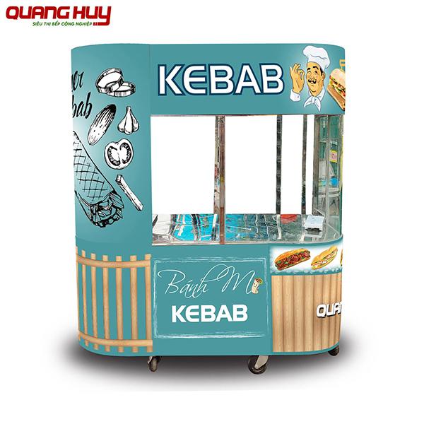 Mẫy xe bánh mì Doner Kebab mẫu mới tại Quang Huy