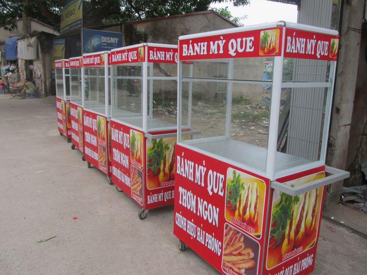 Xe bán bánh mì que đặt theo yêu cầu