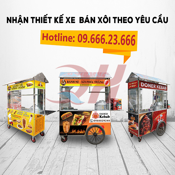 Tại Quang Huy có rất nhiều mẫu mã kiểu dáng xe bán xôi khác nhau