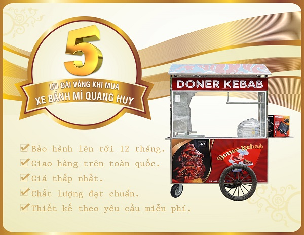 Mua xe bán xôi bánh mì tại Quang Huy bạn sẽ nhận được những ưu đãi hấp dẫn